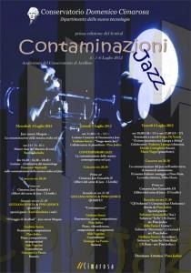 Locandina Contaminazioni Jazz 2012