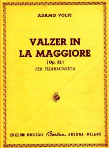 Adamo Volpi op. 32 (Valzer in la maggiore - copertina)