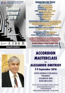 Alexander Dmitriev - masterclass Istituto Superiore di Studi Musicali Peri Merulo di Castelnovo Monti