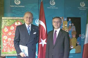 L'Ambasciatore Giorgio Girelli con l'Ambasciatore di Turchia