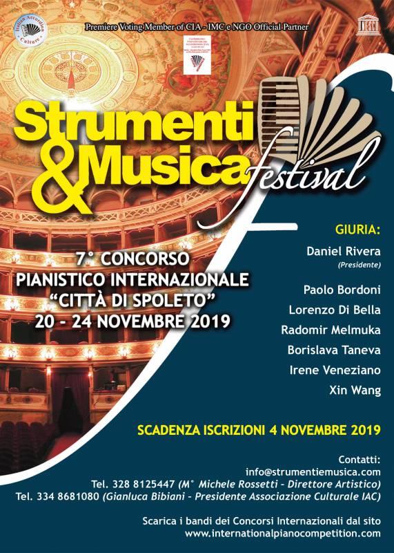 """Concorso Pianistico Internazionale """"Città di Spoleto"""" 2019"""
