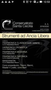 Conservatorio Santa Cecilia - Corsi 2019/2020