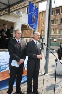 Giorgio Girelli ed il Presidente della Regione Marche Luca Ceriscioli al Concerto per la Festa del Lavoro