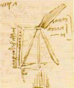 Leonardo - schizzo di organetto a mantice continuo