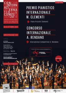 """Locandina Concorso Pianistico """"Città di Spoleto"""" 2014"""