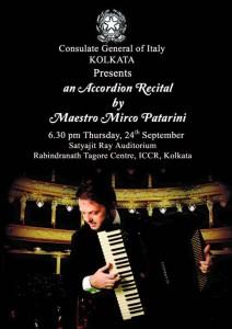Mirco Patarini - concerti in India - Settembre 2015
