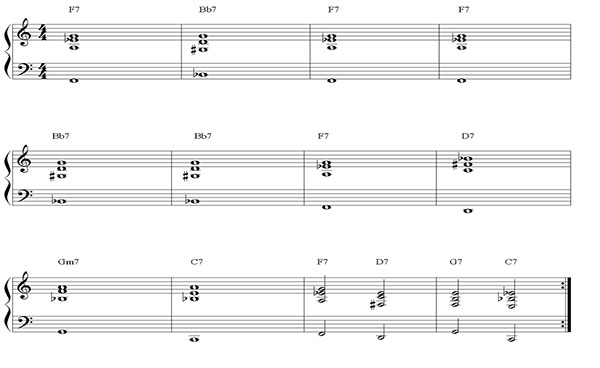Pillole di jazz... Il blues - lezione 9 (esempio 2)