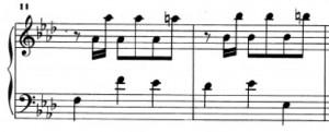 Sonata K239 (battute 11 e 12)