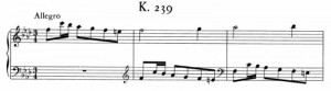 Sonata K239 (battute da 1 a 3)