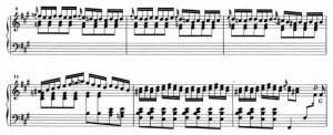 Sonata K24 (battute da 8 a 11) accordi dissonanti (battute 12 13) Possiamo notare la presenza del tetracordo andaluso nella linea del basso