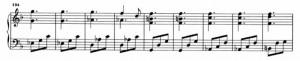Sonata K426 (battute da 134 a 142) accordi ripetuti ossessivamente dalla battuta 138 alla 153
