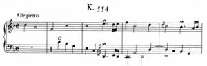 Sonata K554 (battute da 1 a 5)