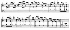 Sonata K6 (battute da 14 a 25)